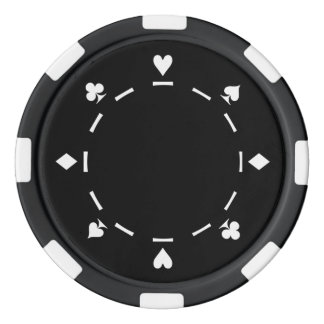 Customizable Background Color Poker Chips