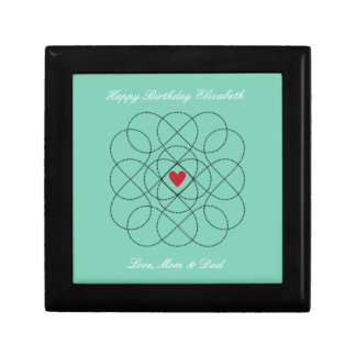 Customizable Background with Black Infiniti Love Gift Box