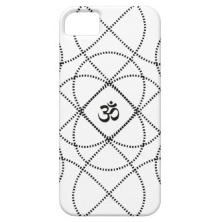Customizable Background with Black Infiniti Om iPhone SE/5/5s Case