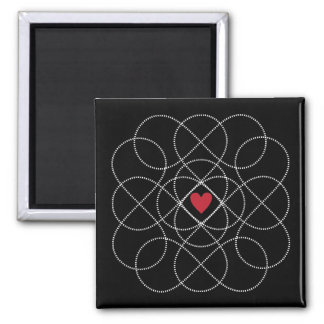 Customizable Background with White Infiniti Love Magnet