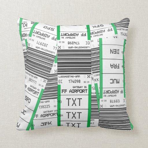 Customizable Baggage Tag Pillow
