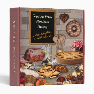 (Customizable) Baking Recipes Binder
