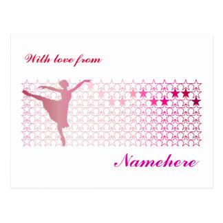 Customizable: Ballerina Postcard