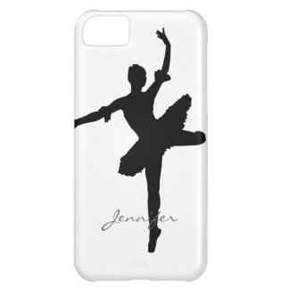 Customizable Ballet Ballerina Silhouette Cover For iPhone 5C