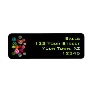 Customizable Balls Return Address Labels
