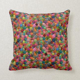 Customizable Balls Throw Pillow