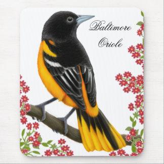 Customizable Baltimore Oriole Bird Mousepad
