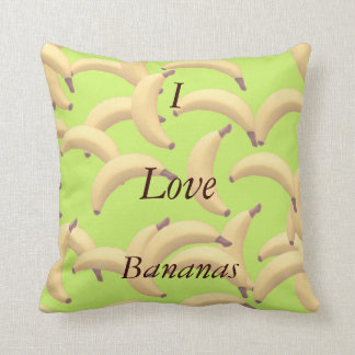 Customizable Bananas with text Throw Pillow
