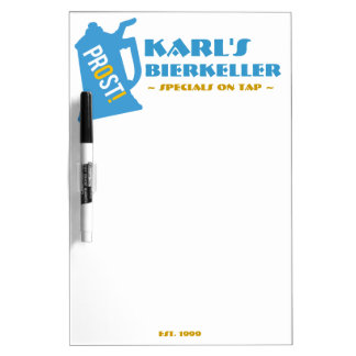Customizable Bar Sign for German Beer Cellar Dry Erase Boards