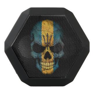 Customizable Barbados Flag Skull Black Boombot Rex Bluetooth Speaker
