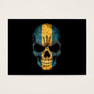 Customizable Barbados Flag Skull Business Card