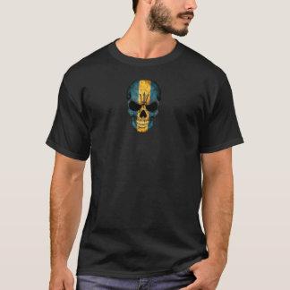 Customizable Barbados Flag Skull T-Shirt