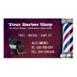 CUSTOMIZABLE Barber Shop BC Business Card