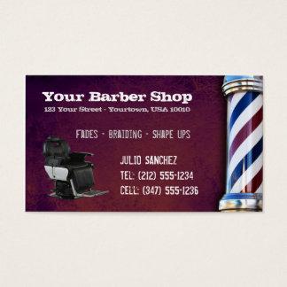 CUSTOMIZABLE Barber Shop BC Business Card