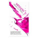 Customizable Bartender Business Card