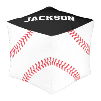Customizable Baseball Beanbag Chair Square Pouf