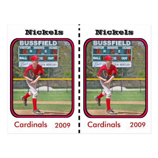 Customizable Baseball Card