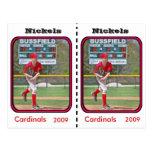 Customizable Baseball Card Post Card