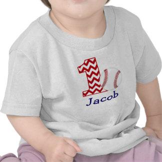 Customizable Baseball First birthday shirt 1 year