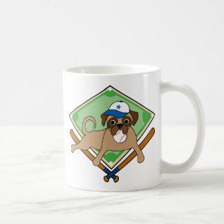 Customizable Baseball Pug Gifts and Tees Coffee Mug