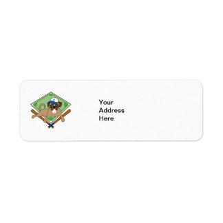 Customizable Baseball Pug Gifts and Tees Label