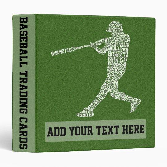Customizable Baseball Softball 3 Ring Binder