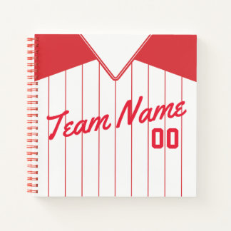 Customizable Baseball Softball Jersey Notebook