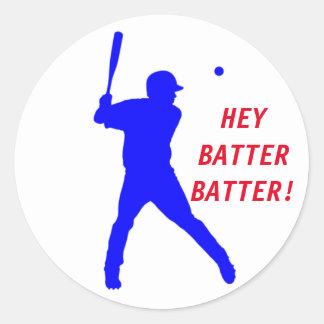 Customizable Baseball Sticker with batter