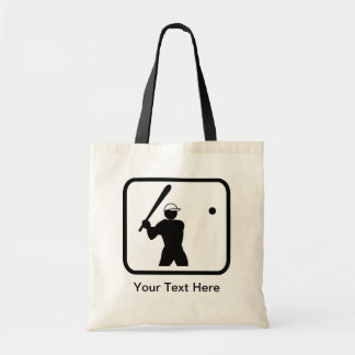 Customizable Baseballer Logo Canvas Bags