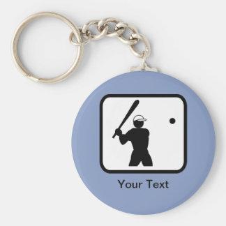 Customizable Baseballer Logo Keychains