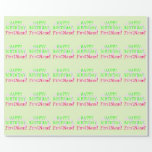 [ Thumbnail: Customizable, Basic 20th Birthday Wrapping Paper ]