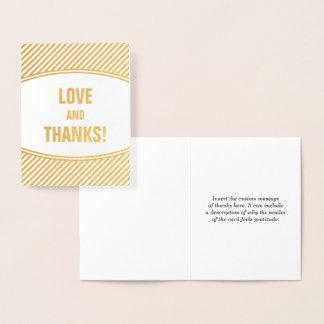 "Customizable & Basic ""LOVE AND THANKS!"" Card"