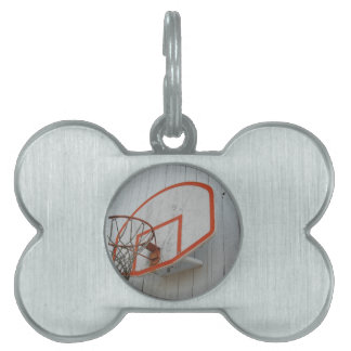 Customizable Basketball Hoop Design Pet Name Tag