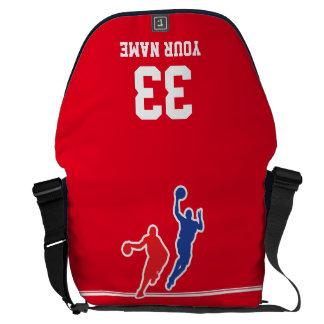 Customizable basketball jersey team colors… messenger bag