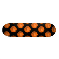 Customizable Basketball Pattern Skateboard