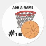 Customizable Basketball Stickers