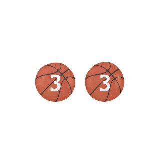 Customizable Basketball Stud Earrings
