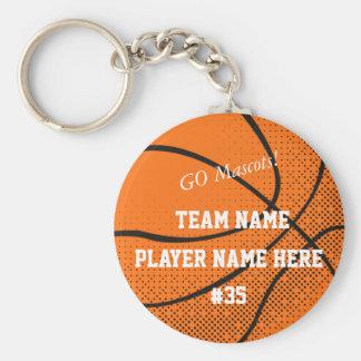 Customizable Basketball Team Keychain