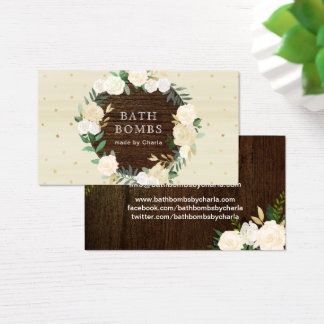 Customizable Bath Bombs Business Cards