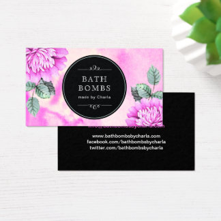 Customizable Bath Bombs Business Cards