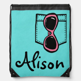 Customizable Beach Baby Drawstring Backpack
