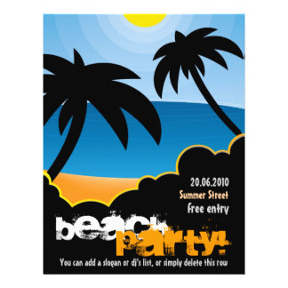 Customizable Beach Party flyer