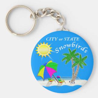 Customizable Beach Themed Keychains for Snowbirds