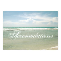 Customizable Beach Wedding Accomodations Card