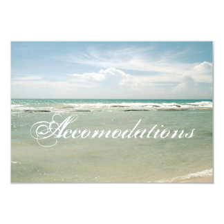 Customizable Beach Wedding Accomodations Card