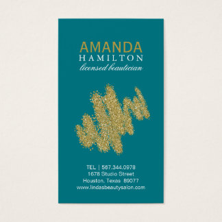 Customizable Beautician Business Card