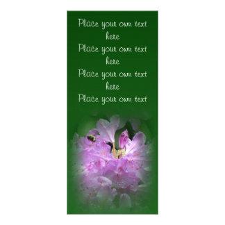 Customizable beautiful bee floral bookmark rack card