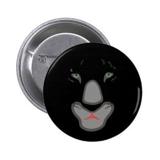 customizable beautiful black panther face. pinback button
