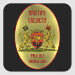 Customizable Beer or Wine Bottle Labels Square Sticker