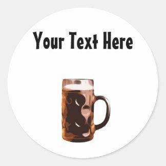 Customizable Beer Stein Sticker